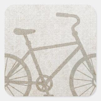 Bike Vintage Sports Peace Love Destiny Square Sticker