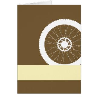Bike wheel card