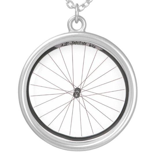 bike wheel fashion necklace