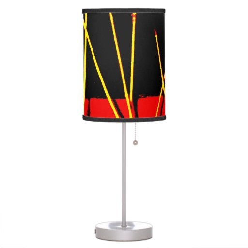 Bike wheel one jtg art table lamp zazzle for Bicycle wheel table