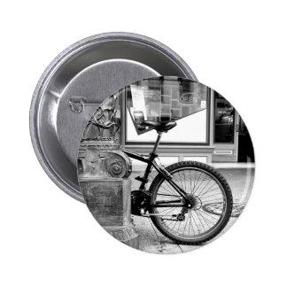 Bike Wheel Pinback Button