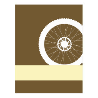 Bike wheel postcard