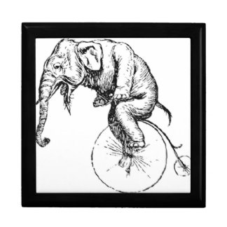 Bike Wheeling Elephant Jewerly Box