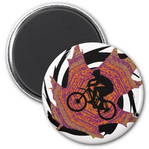 Bike With Certainty Refrigerator Magnets
