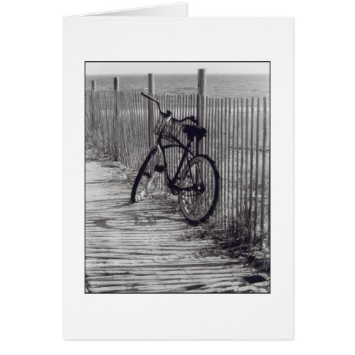'Bike with Fence' Blank Greeting Card