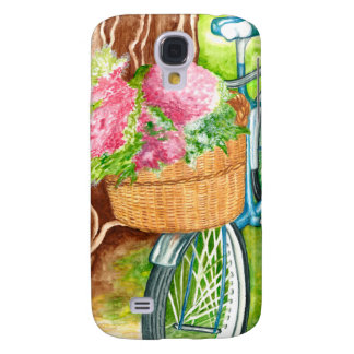 Bike With Flower Basket Galaxy S4 Cover