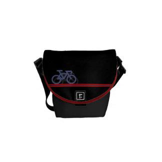 Bike with Norwegian-inspired Flag lines Messenger Bag