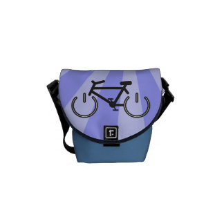 Bike with Power Symbol Wheels Courier Bag
