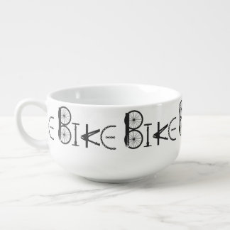 Bike Word made from Bicycle parts for Bike Sport Soup Bowl With Handle
