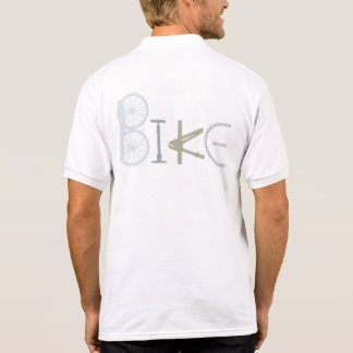 Bike Word made From Parts Custom Color Polo Shirts
