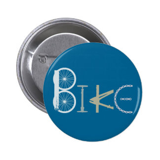 Bike Words from Bike Parts Bicycle Sports fan Button