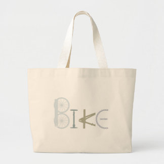 Bike Words from Bike Parts Bicycle Sports fan Large Tote Bag