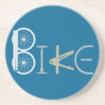 Bike Words from Bike Parts Bicycle Sports fan Sandstone Coaster