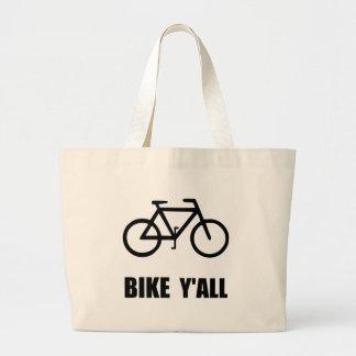 Bike Yall Large Tote Bag