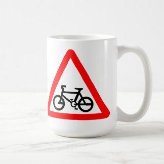 Bike Yield Sign Coffee Mug