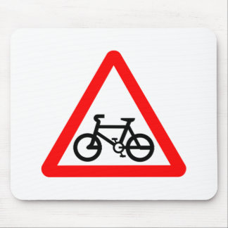 Bike Yield Sign Mouse Pad