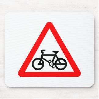 Bike Yield Sign Mousepads