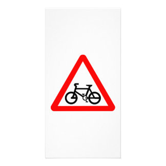 Bike Yield Sign Picture Card