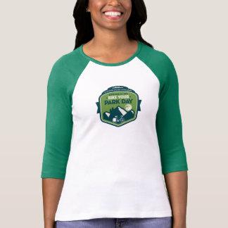 Bike Your Park Day Baseball Shirt