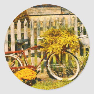 Bike - Zoar, OH - The ride is never over Classic Round Sticker