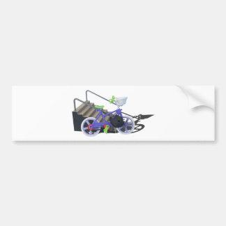 BikeChainedToHandrail080514 copy.png Bumper Sticker