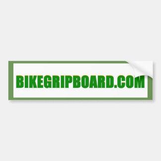 BIKEGRIPBOARD.COM GREEN BUMPER STICKER