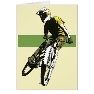 Biker1 - Cream/Green Card