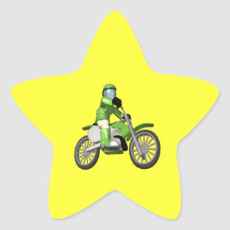 Biker 3 star sticker