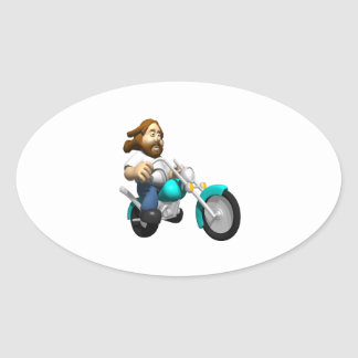 Biker 4 oval sticker