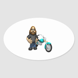 Biker 5 oval sticker