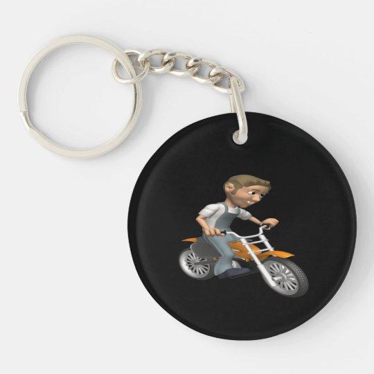Biker 6 keychain
