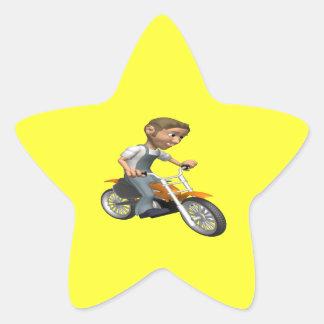 Biker 6 star sticker