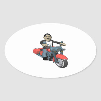 Biker 7 oval sticker