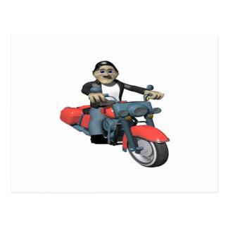 Biker 7 postcard