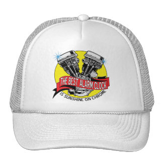 Biker Alarm Clock Trucker Hat