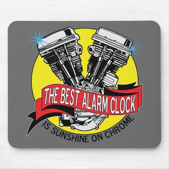 Biker Alarm Clock Mouse Pad
