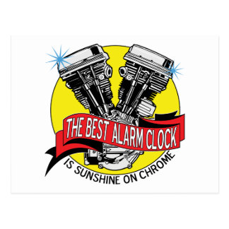 Biker Alarm Clock Post Cards