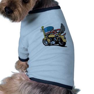 Biker American Eagle Dog T Shirt