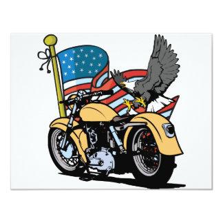 Biker American Eagle 4.25x5.5 Paper Invitation Card