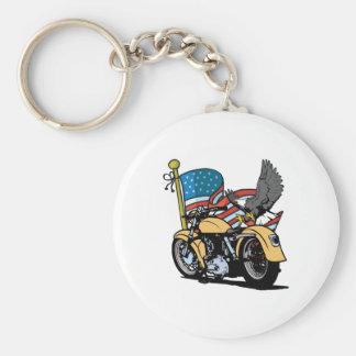 Biker American Eagle Keychains