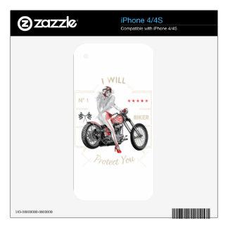 Biker Angel T-Shirt Decal For iPhone 4