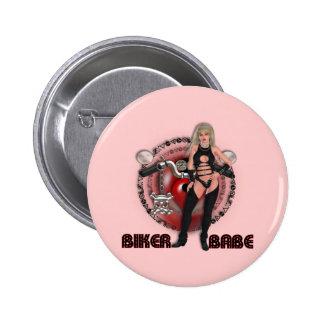 Biker Babe - Button