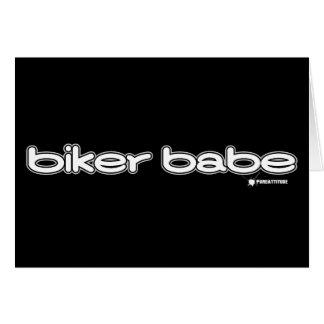 Biker Babe Card