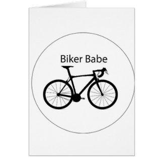 """""""Biker Babe"""" Card"""