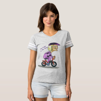 Biker Babe Granny Women's Football T-Shirt