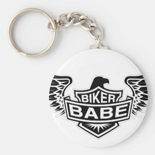 Biker Babe Keychain