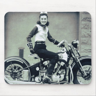 Biker Babe Mouse Pads