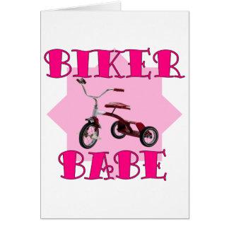 Biker Babe /pink Card