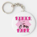Biker Babe /pink Keychain