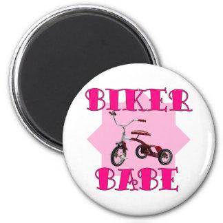 Biker Babe /pink Magnet